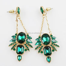 Charming Pierced Dangle Earrings For Girls Gold Plated Dubai Gold Jewelry