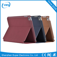 2017 Ultra slim luxury flip leather back cover for ipad mini 4 case