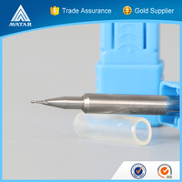 machine tools accessories 0.1mm solid carbide end mill with ISO certificated / certification