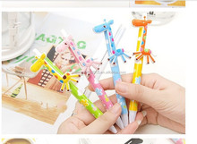 plastic cartoon giraffe kids funny ballpen