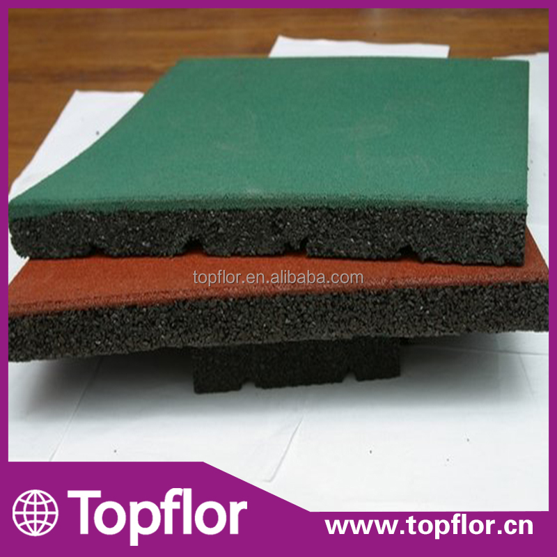 Outdoor Rubber Flooring Tile For Playground