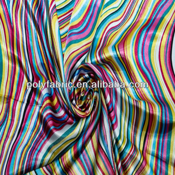 Mexico cheap satin printed dress fabric
