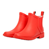 2018 new design red ladies rubber rain boots