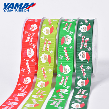 YAMA custom cute tree gloves Santa Claus pattern gift grosgrain satin Christmas ribbon