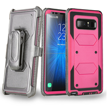 Premium Hybrid Protective Case Heavy Duty Holster Belt Clip Robot Armor Cover for Samsung Galaxy Note8