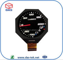 Round circle lcd display 2.1 inch lcd display 2.36 inch outline dimension