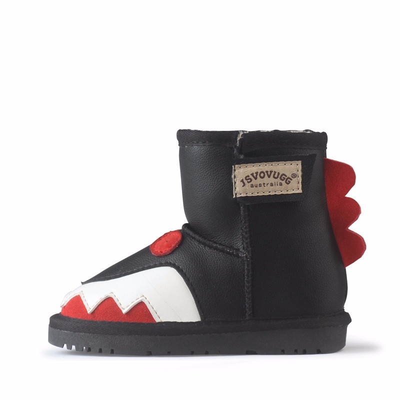 Hot 2016 safety fashion winter boots High quality Genuine leather cartoon children Kids snow boots casual shoes for boys girls