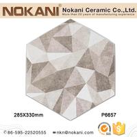 multiclolor porcelain hexagon tile art deco glazed decorative wall tiles