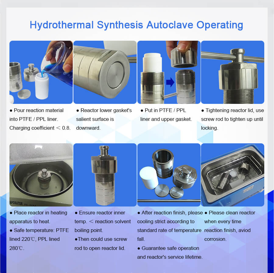 Hydrothermal Synthesis Reactors With Ptfe Liner And Stainless Steel Shell Hydro Thermal Reactors Price Teflon Lined Autoclave