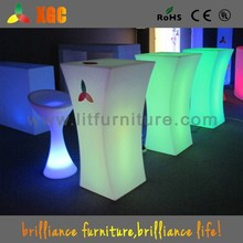 table top salad bar/led bar table furniture/light up cocktail table