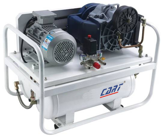 8bar (116PSI) 2.2KW 2900rpm belt driven open-type oil free scroll compressor with air tank