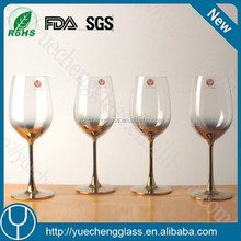 Manufacturer handmade wine glass with metal stem