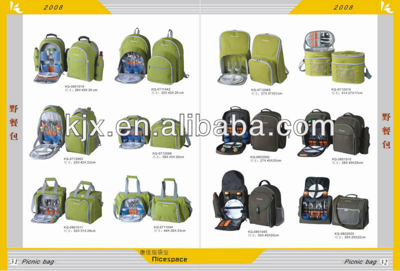Whole Sale Any Color Picnic Style 600D Polyester Backpack