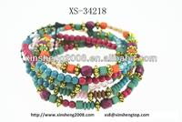 2016 new designed charming and fashion wood beads bracelets bangles