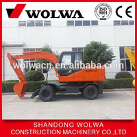 Wolwa brand new wheel mini excavator DLS890-9A with good japanese engine for sale