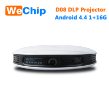 WeChip D08 Android WiFi Bluetooth Projector , Support Full HD 1080P, Multimedia Mini Portable LED Projector for Home Theatre