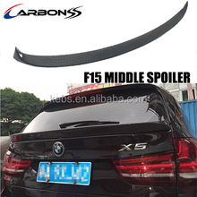 rear middle trunk boot spoiler carbon fiber for bmw x5 f15 2014+