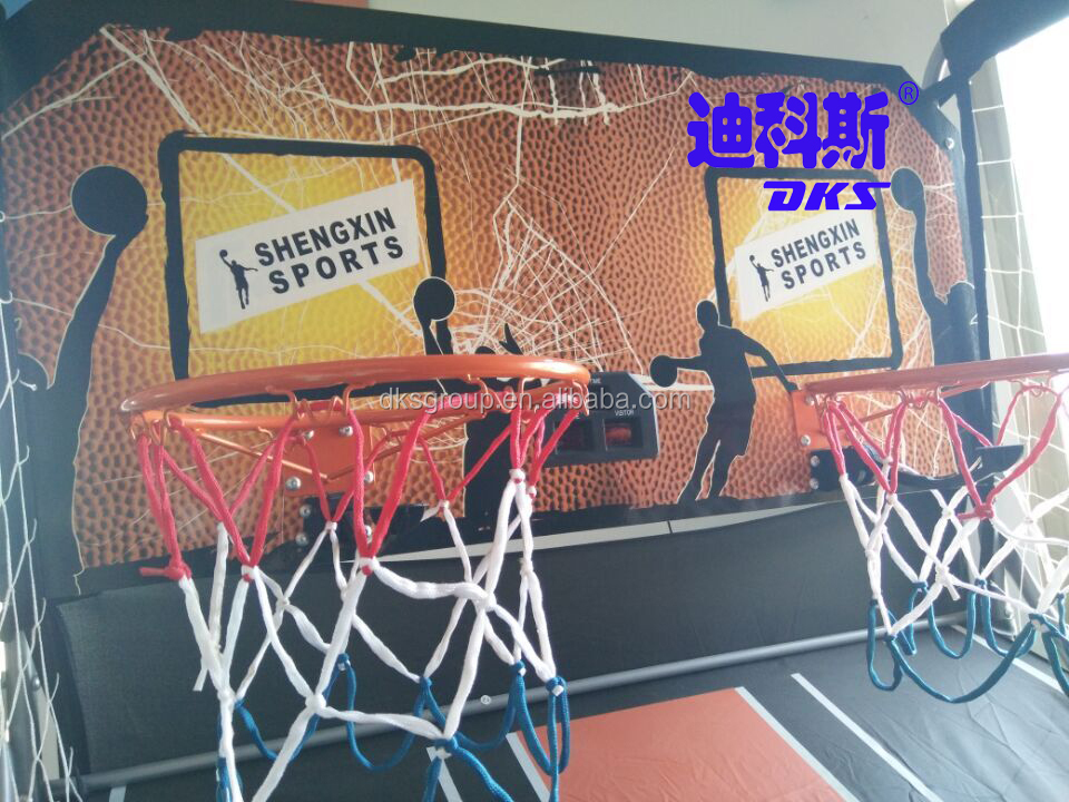 Arcade Double Shoot Basketball Game Machine For Two Players