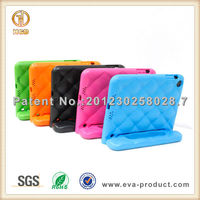 Kids proof rugged tablets case for ipad mini tablets bumper covers with texture design