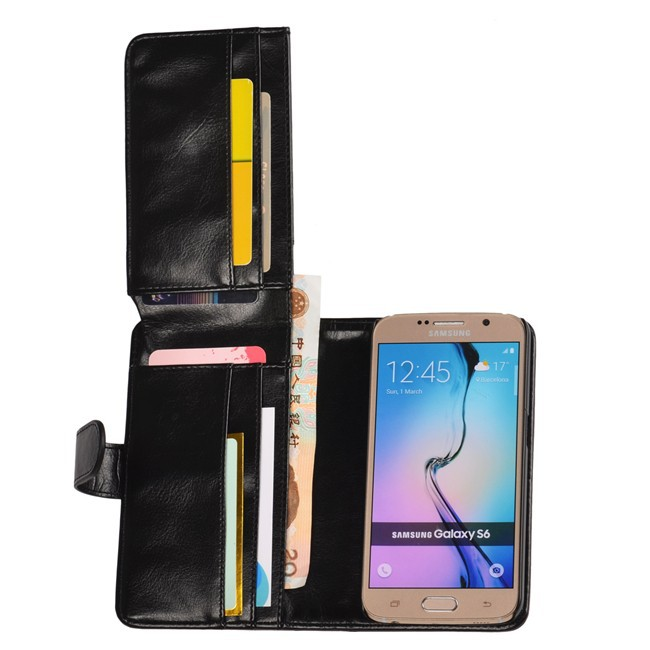 New Product Multifunction Card Slot Wllat Pouch Leather Cover For Samsung Galaxy s6