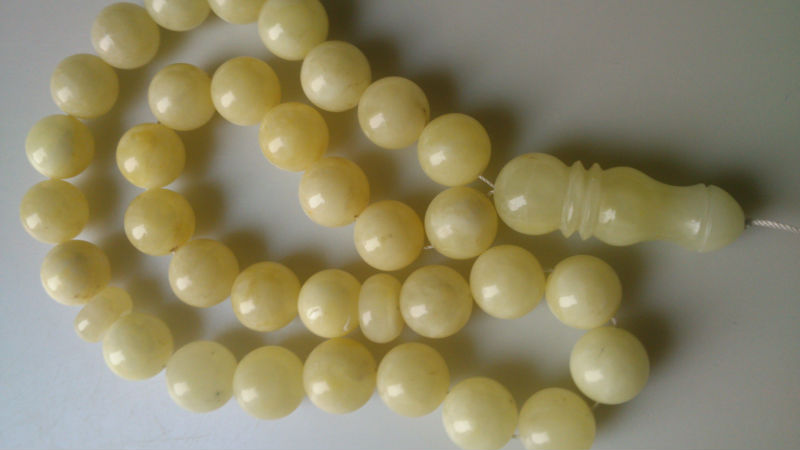Natural SOLID AMBER masbaha / Tasbih / Worry beads / Prayer beads