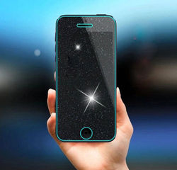 9H Rhinestone Diamond Glitter Shiny Tempered Glass Screen Protector Film For iPhone 4 4S 5 5C 5S SE 6 6S 7 8 Plus