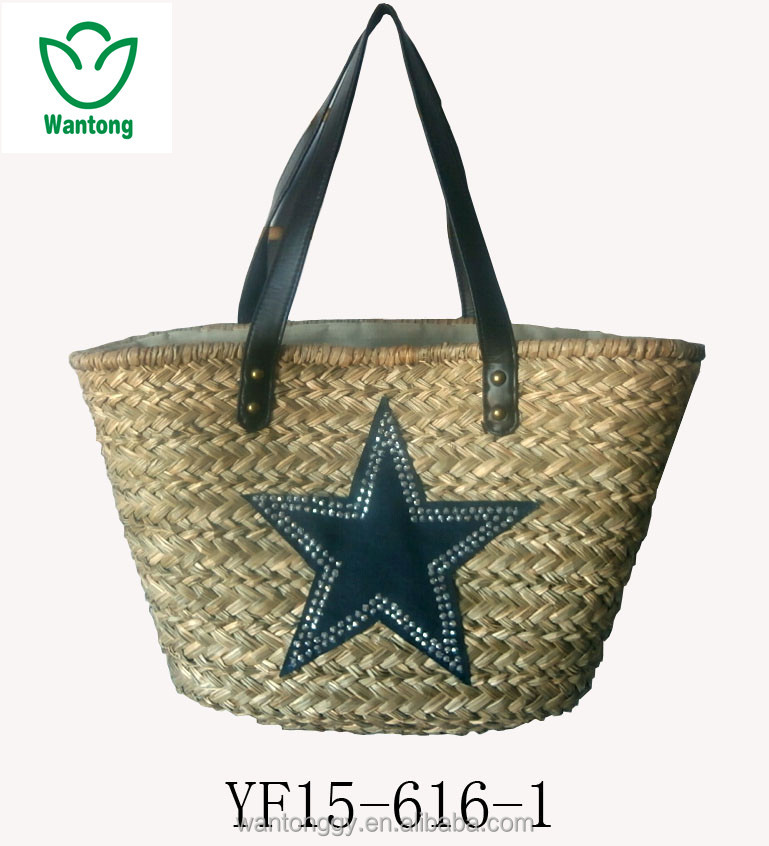 Beach Tote Bags Wholesale Sea Grass Straw Bag