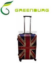Four wheels ABS+PC British style trolley Luggage/national flag printing