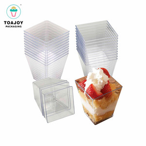 PP PS frozen dessert containers clear yogurt packaging plastic dessert cups