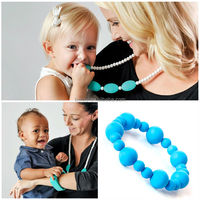 Food Grade Braided Rubber Bracelet Teething Bracelet