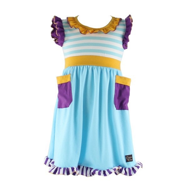 2015 New Arrivel Baby Girl Dress Fashion Cotton Baroque Print Indian dress Designs For Girls