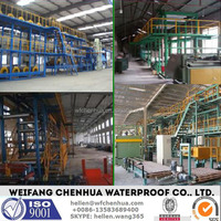 Waterproof membrane type asphalt shingle making machines -- installation overseas