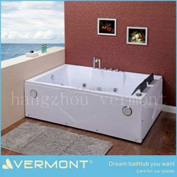 Acrylic massage bathtub with seat