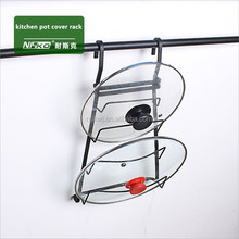 wall kitchen tool hanging utensil pot lid cover rack