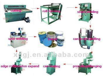 equipment for manufacturing paint chemical cans