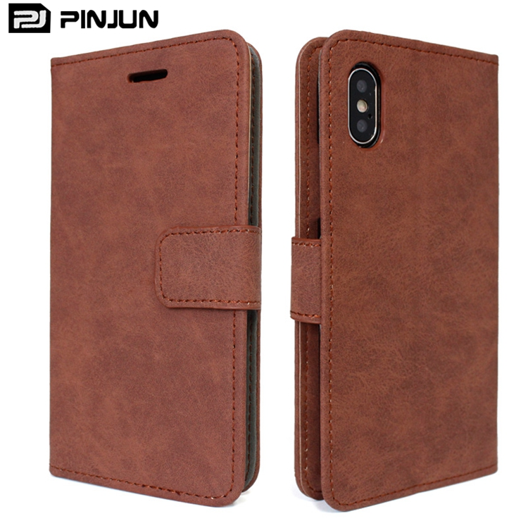 Wholesale classic style mobile phone case wallet for iphone x leather case vintage,for iphone x pu leather flip book case