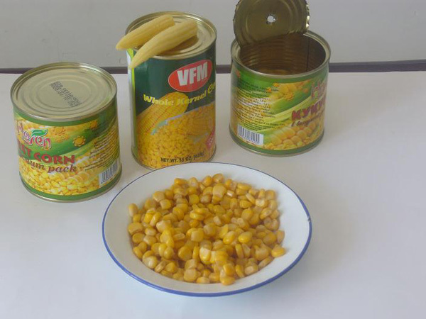 2016 Organic corn kernel sweet canned corn