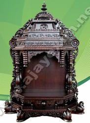 Majestic wooden Pooja Mantap with Swan Leg