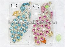 diamond crystal cover peacock case shell for samsung galaxy s4 i9500 hard back