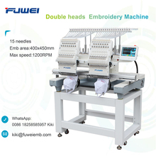 Fuwei 2 heads barudan computerized embroidery machine for hat embroidery machine sale