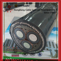 6/6KV Electrical Power Cable Copper 3 Core XLPE Insulated PVC Sheathed Cable YJV22 3*70mm2