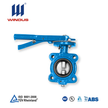 16 inch lever operated wafers end type butterfly valve with tamper switch