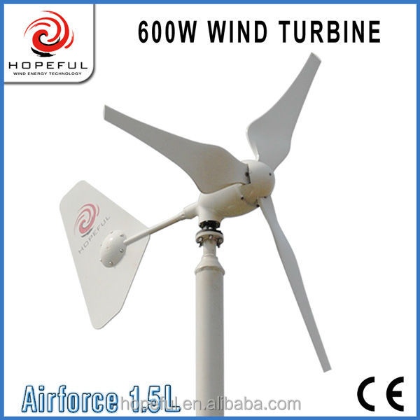 Easy to install safe system home using 600w wind energy generator small windpower windmill