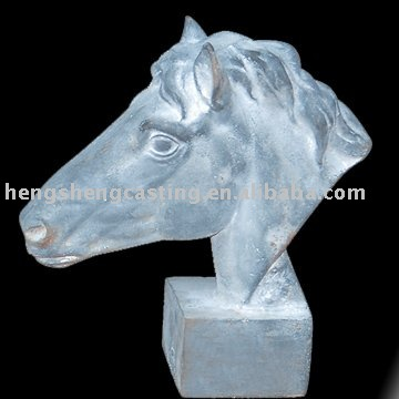 outdoor metal animal horse statues