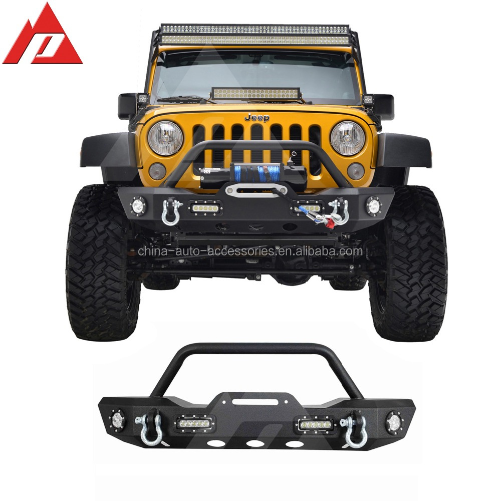 07-15 Jeep Wrangler JK Offroad Front Bumper with LED Lights