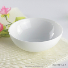 "4.3"" inch plain white round bowls porcelain ceramic cereal ramen a little salad bulk microwave safe daily use guest serve bowl"