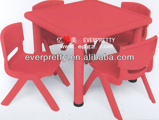 Vivero mobiliario escolar, los niños de plástico mesas y sillas ...