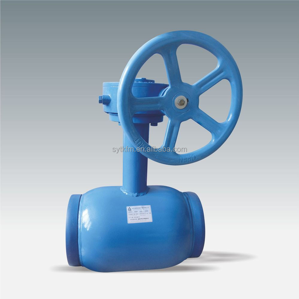 Directly buried undergtound manual gear operated ss304 full welded ball valves