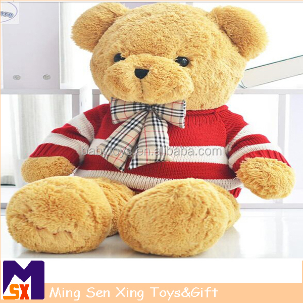 2015 china new high quality cute giant large stuffed teddy bear animals with clothes