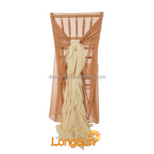 Hot Sale Ruffle Chair Sash for Wedding Chair Cover